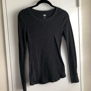 Women's Charcoal Long Sleeve Thermal